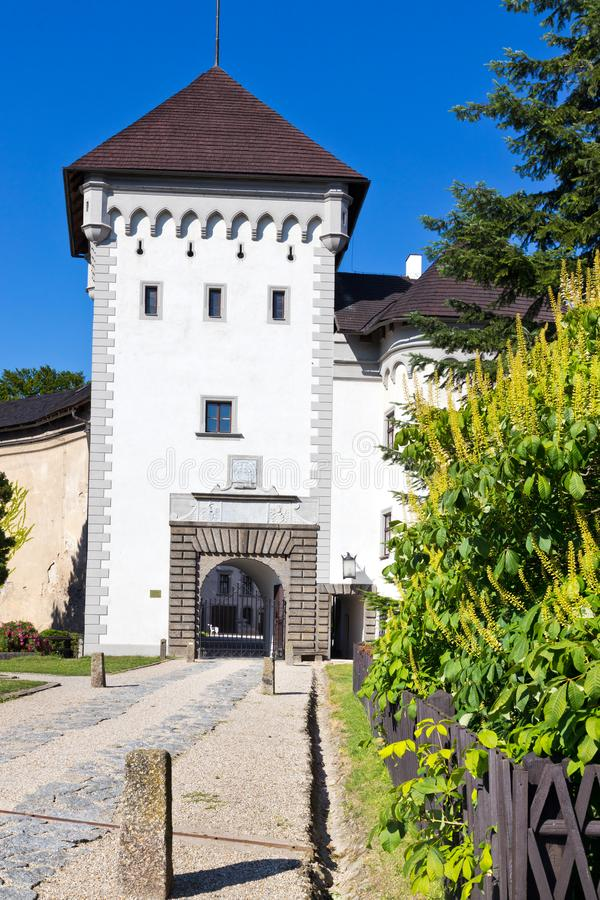 Castle Velke Mezirici, περιφέρεια Vysocina, Τσεχική δημοκρατία, Ευρώπη στοκ φωτογραφία με δικαίωμα ελεύθερης χρήσης