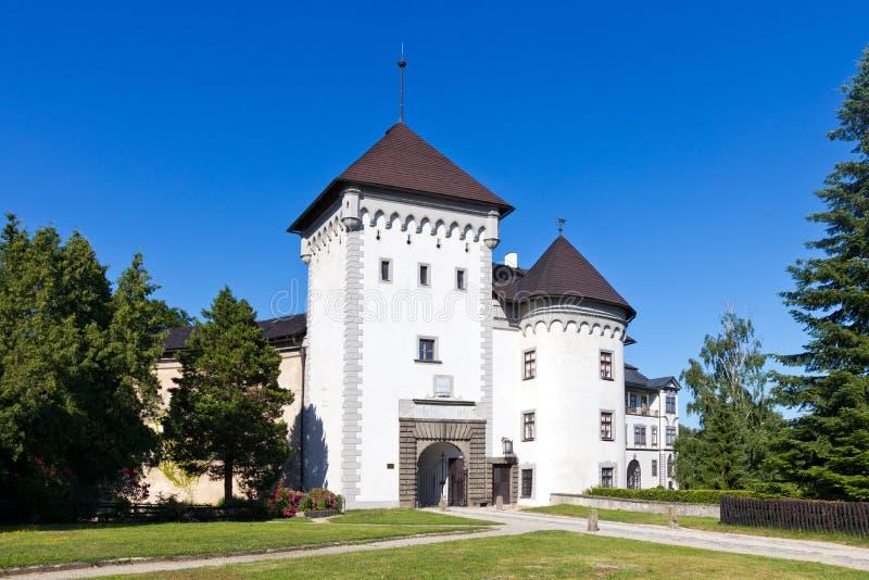 Castle Velke Mezirici, περιφέρεια Vysocina, Τσεχική δημοκρατία, Ευρώπη στοκ εικόνες με δικαίωμα ελεύθερης χρήσης