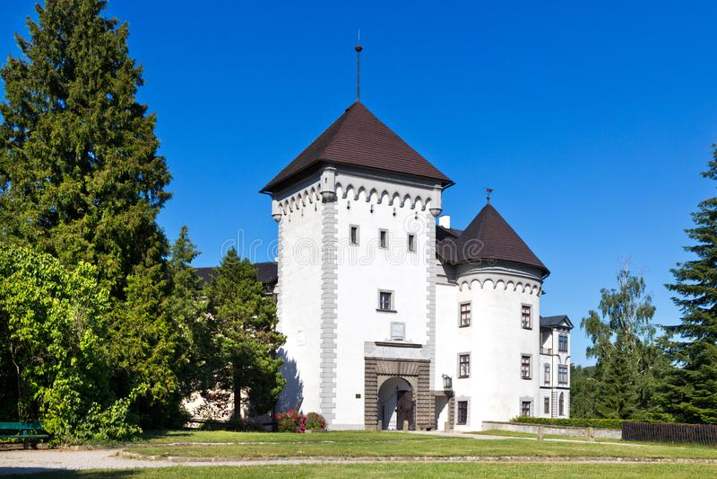 Castle Velke Mezirici, περιφέρεια Vysocina, Τσεχική δημοκρατία, Ευρώπη στοκ εικόνα