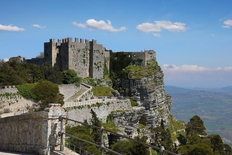 Castle of Venus in Erice Sicily, Italy stock images
