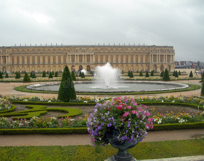 Castle in versailles royalty free stock images