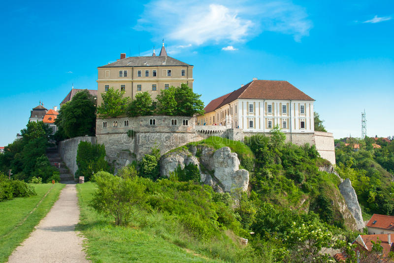 Castle in Veszprem, Hungary stock images