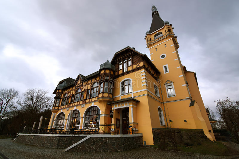 Castle. Vetruse with hotel and restaurant royalty free stock photos