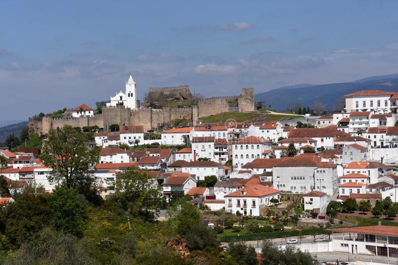 Castle and village of Penela, Beiras region,. Portugal stock photo