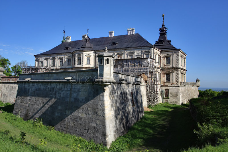 Castle in village Pidgirci, Ukraine stock image