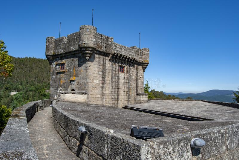 Castle of Villasobroso in the province of Pontevedra in Galicia. Castle of Villasobroso, medieval castle located in the province of Pontevedra, in north of Spain stock photos