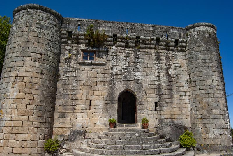 Castle of Villasobroso in the province of Pontevedra in Galicia. Castle of Villasobroso, medieval castle located in the province of Pontevedra, in north of Spain royalty free stock photography