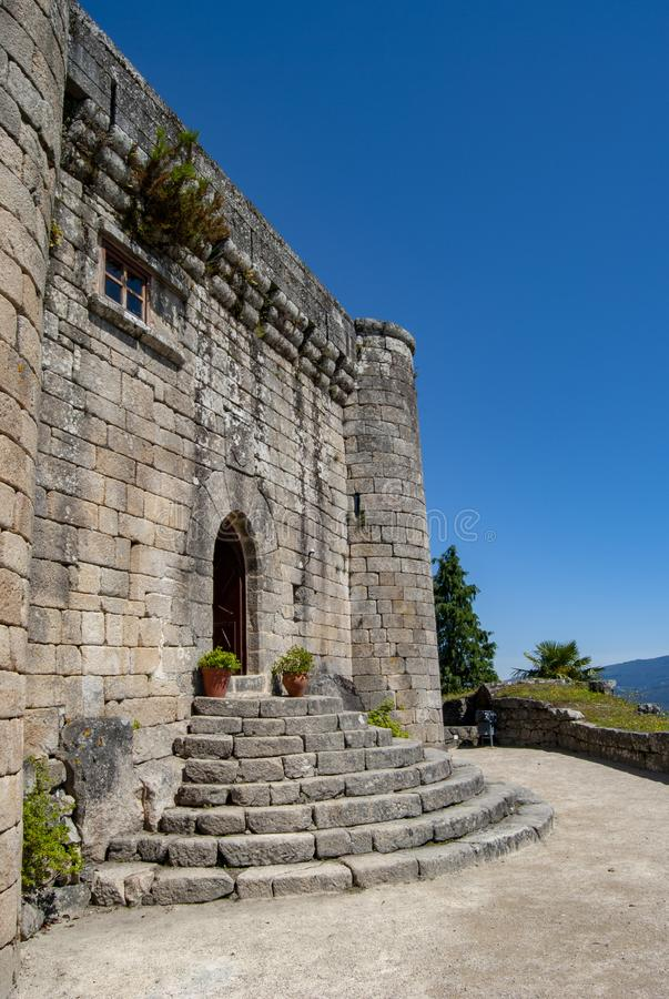 Castle of Villasobroso in the province of Pontevedra in Galicia. Castle of Villasobroso, medieval castle located in the province of Pontevedra, in north of Spain royalty free stock photos