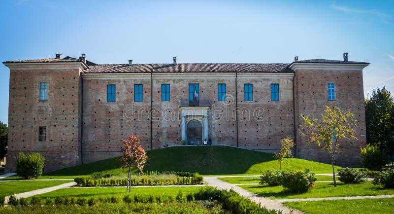 Castle of Voghera, oltrepo' pavese. Piazza Castello a Voghera, in oltrepo' pavese stock photography