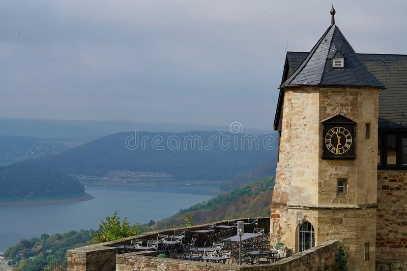 Download Castle Of Waldeck With The Edersee Stock Photo - Image: 83703716
