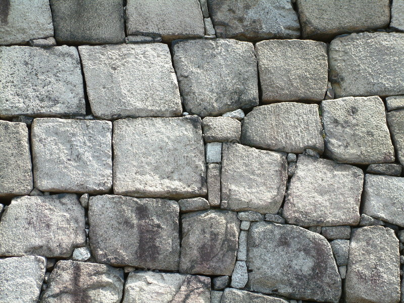Castle Wall. Japanese castle wall in Kyoto, Japan royalty free stock images