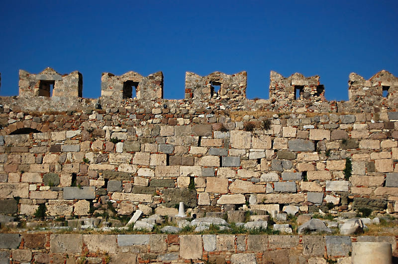 Download The Castle Wall Battlements Of Kos Castle Stock Photo - Image: 15073572