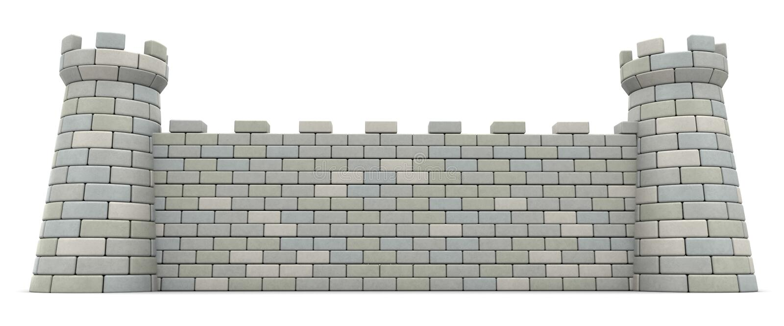 castle wall royalty free illustration