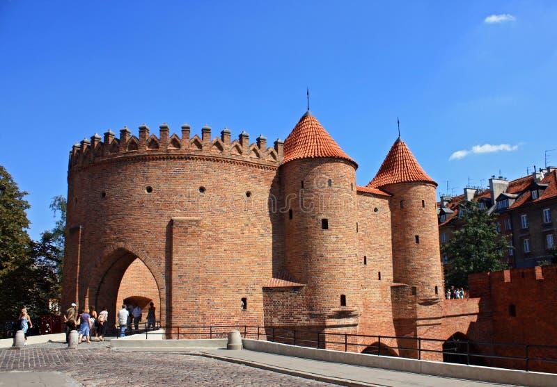 castle warsaw royaltyfria foton