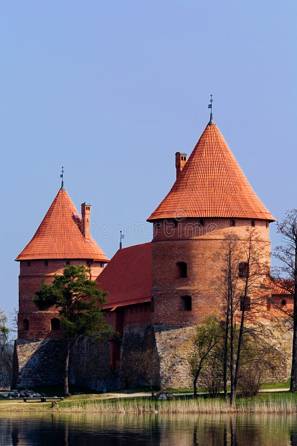 Castle with water royalty free stock photography