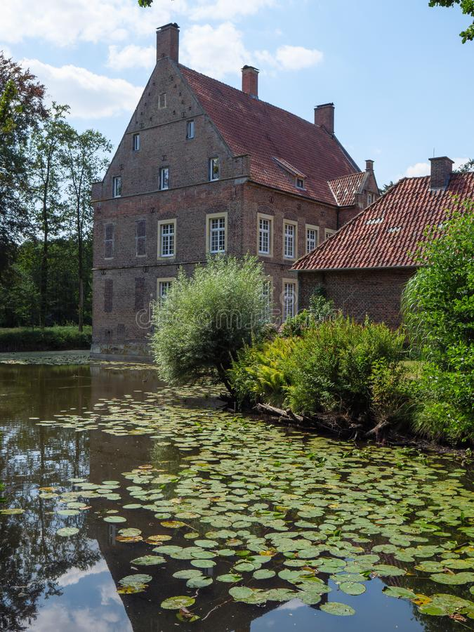 The castle of welbergen in germany. The small Castle of welbergen in the german muensterland stock photos
