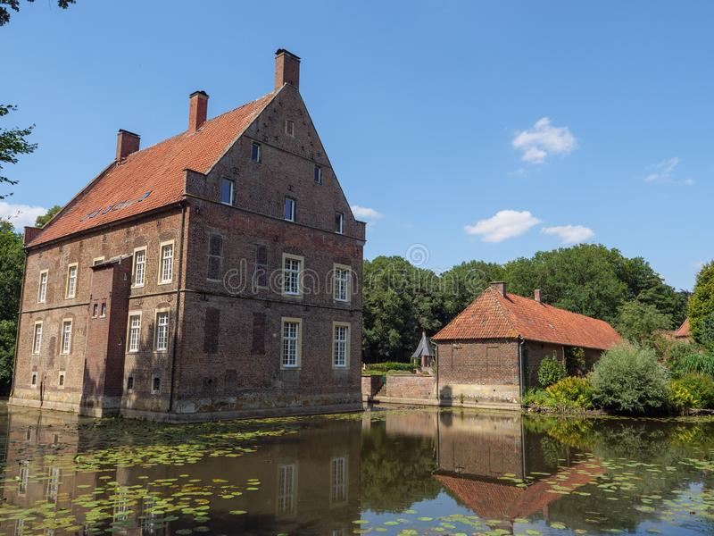 The castle of welbergen in germany. The small Castle of welbergen in the german muensterland royalty free stock photo