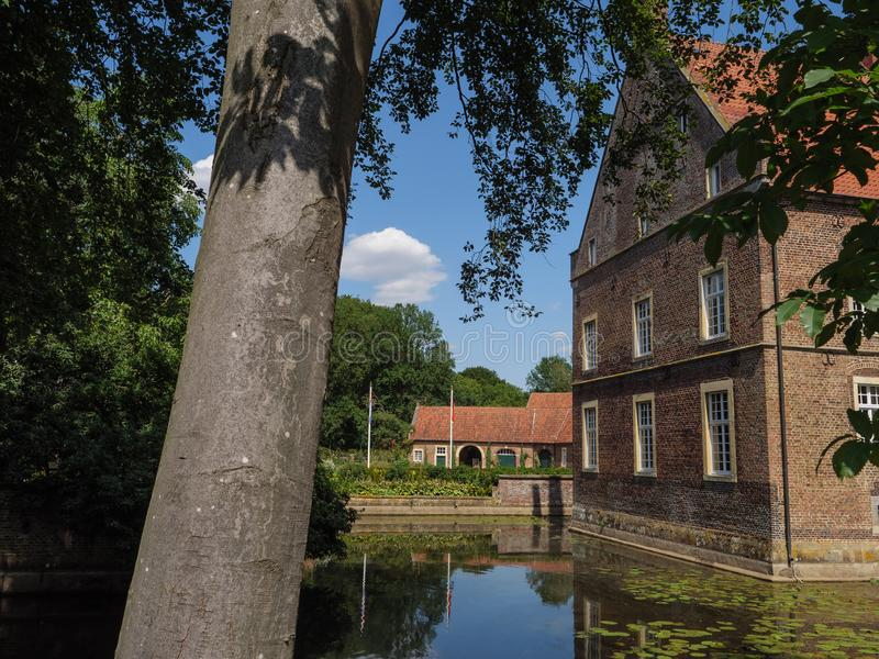The castle of welbergen in germany. The small Castle of welbergen in the german muensterland royalty free stock photography