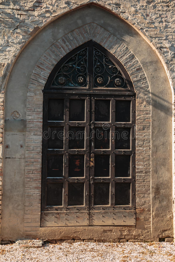 Castle Window in Gothic Architecture in Europe stock photography