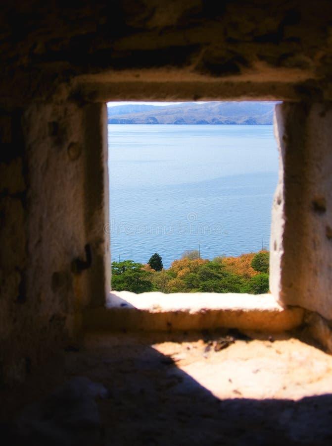 Castle window royalty free stock photos