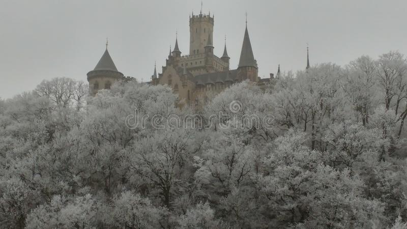 Castle winter dream royalty free stock photography