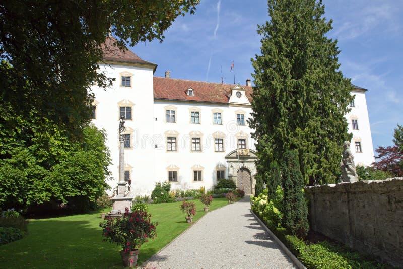 Castle Wolfegg, village Wolfegg, Germany. Gateway to the old Castle Wolfegg, in the village Wolfegg, Germany, Europe royalty free stock photography