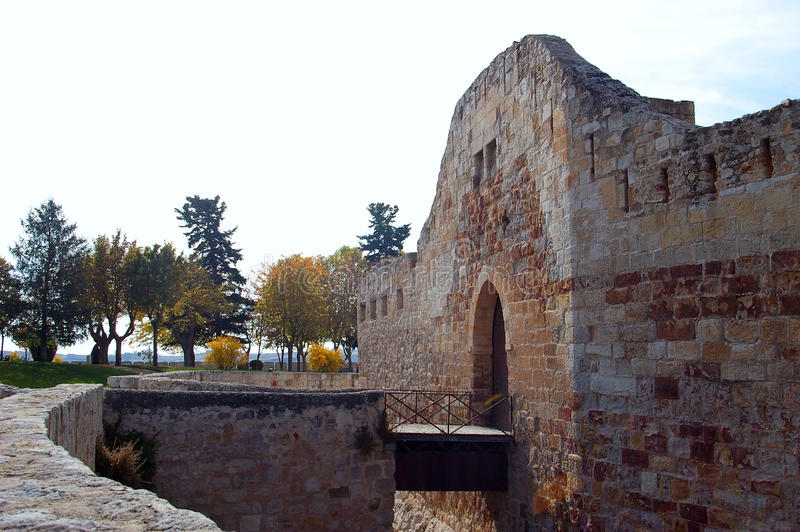 Castle Zamora, της Καστίλλης και του Leon Ισπανία στοκ εικόνα
