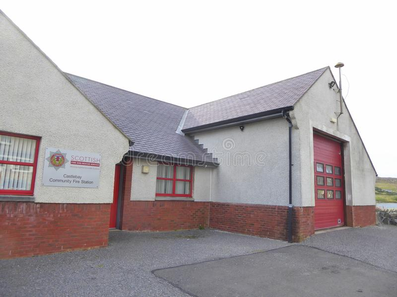 Fire station in Scotland stock images