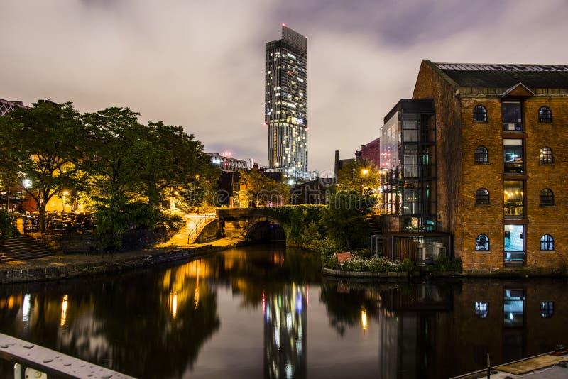 Castlefield in de Stadscentrum van Manchester royalty-vrije stock fotografie