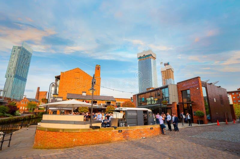 Castlefield, el área de la protección del centro urbano en Manchester, Reino Unido imagen de archivo libre de regalías