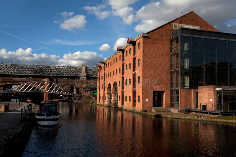 Castlefield i Manchester, Förenade kungariket royaltyfria bilder