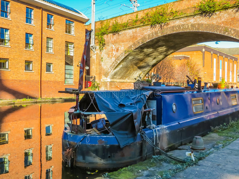 Castlefield, Manchester, England, United Kingdom. Bridges and canals of the Castlefield, an inner city conservation area, Manchester, England, United Kingdom royalty free stock photography