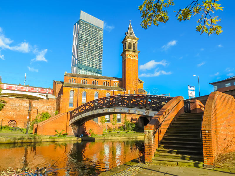 Castlefield, Manchester, England, United Kingdom. Channels of the Castlefield, an inner city conservation area, Manchester, England, United Kingdom stock image