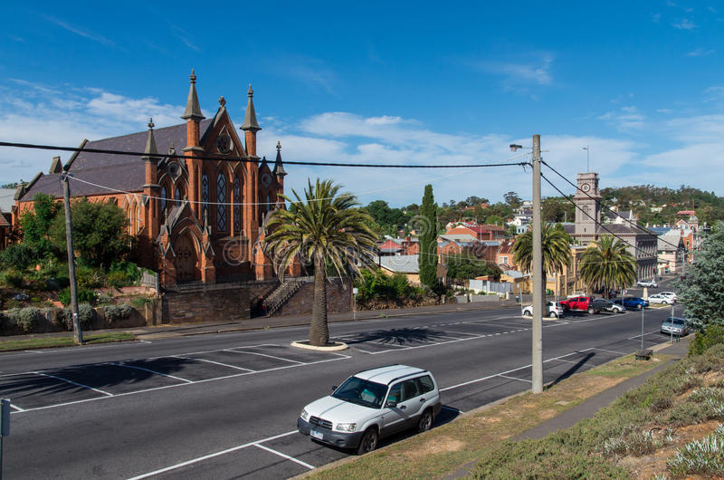 Castlemaine Presbyterian Church stock photography