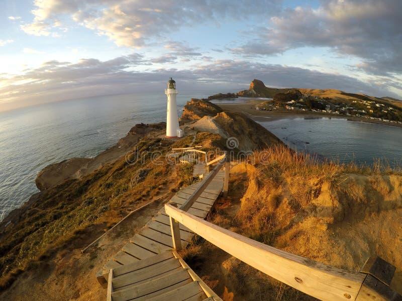 Castlepoint灯塔|新西兰 免版税库存照片