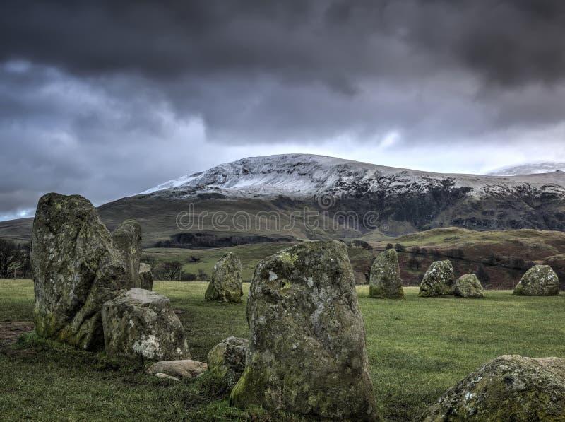 Castlerigg石圈子 免版税图库摄影