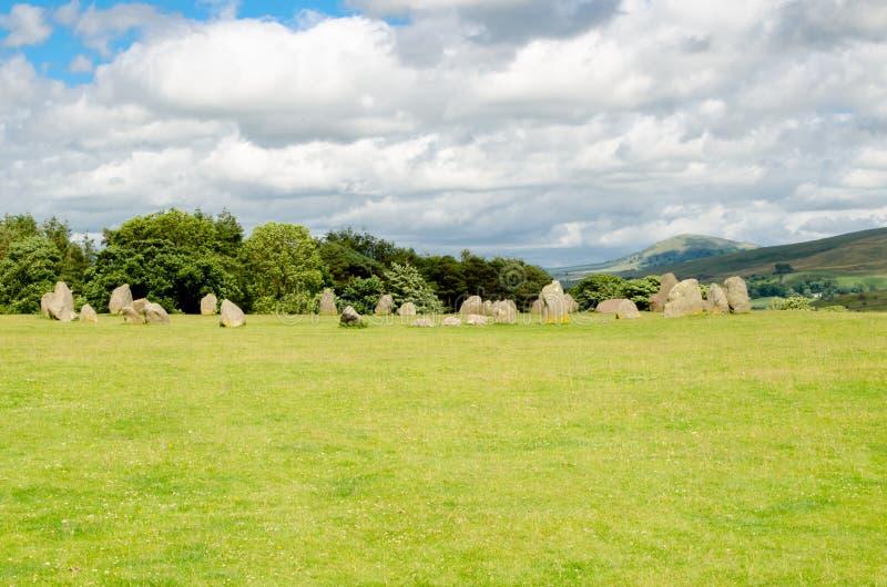 Castlerigg Dryluje Cumbrea Anglia obraz royalty free