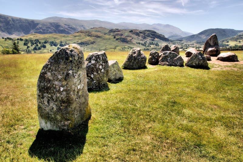 Castlerigg Kamienia Okrąg blisko Keswick fotografia stock