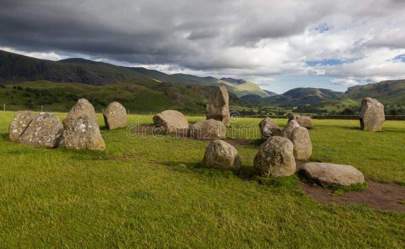 Castlerigg-Stein-Kreis, nahe Keswick, Cumbria, England lizenzfreie stockfotografie