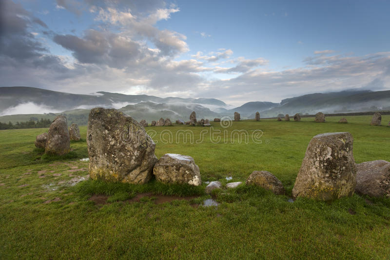 Download CASTLERIGG STONE CIRCLE stock image. Image of grass, green - 25597939