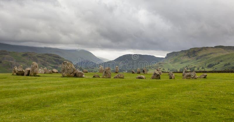 Castlerigg Stone Circle, near Keswick, Cumbria, England. royalty free stock photography