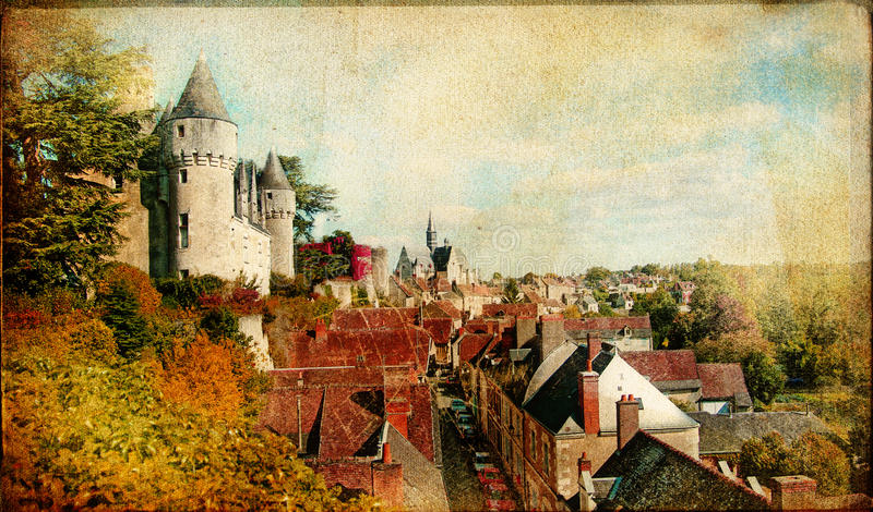 Download Castles of France stock illustration. Image of canvas - 16706385