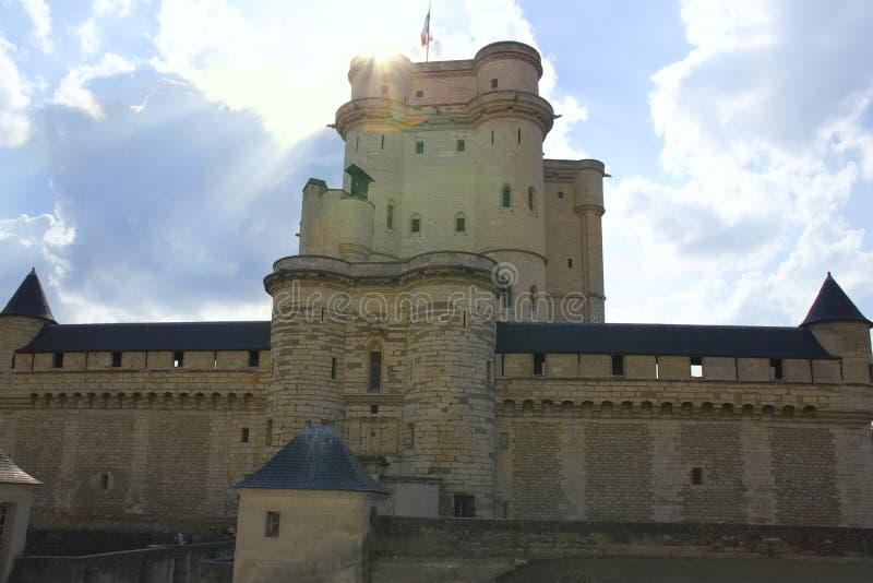 Chateau de Vincennes in France. stock photo