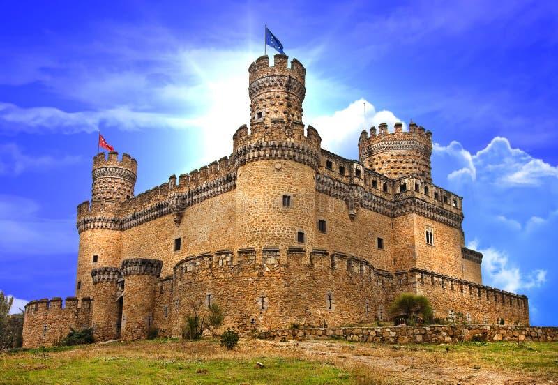 Castles of Spain. Medieval castle Manzanares el Real - Spain