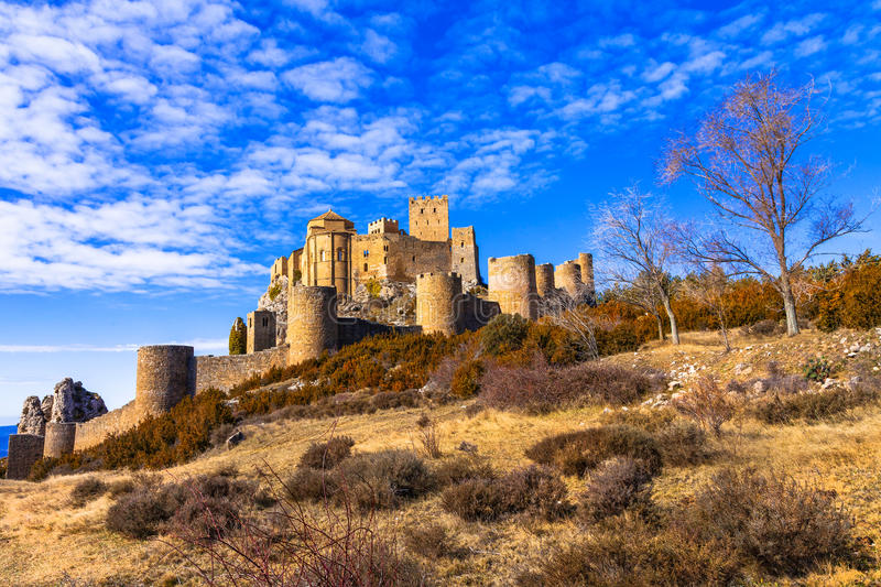 Castles of Spain - Loare in Aragon royalty free stock images