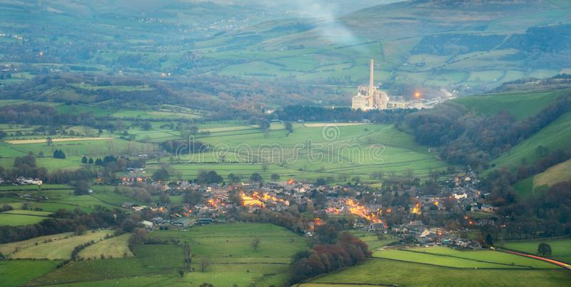Castleton Cement Factory Peak District Regno Unito fotografie stock