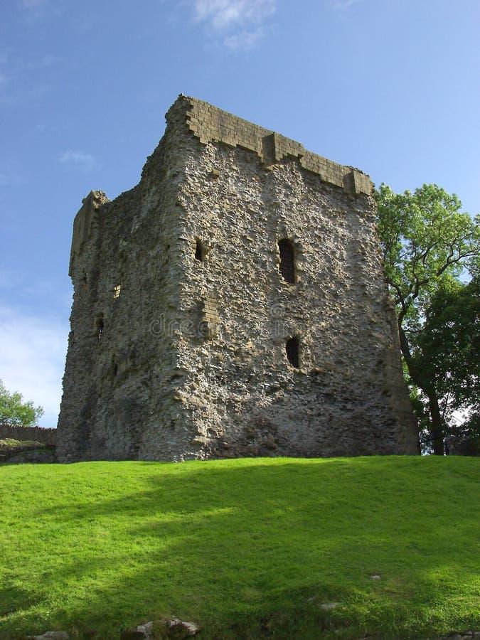 Castleton Keep. The ruined Keep of Castleton Castle, Peak District, England royalty free stock image