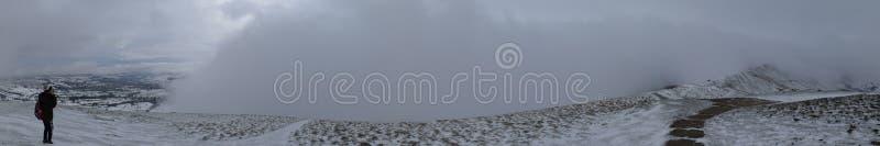 Winter snow of Castleton, Peak District, UK. Castleton, Peak District, UK - Photo taken on Dec 9th, 2017 stock images