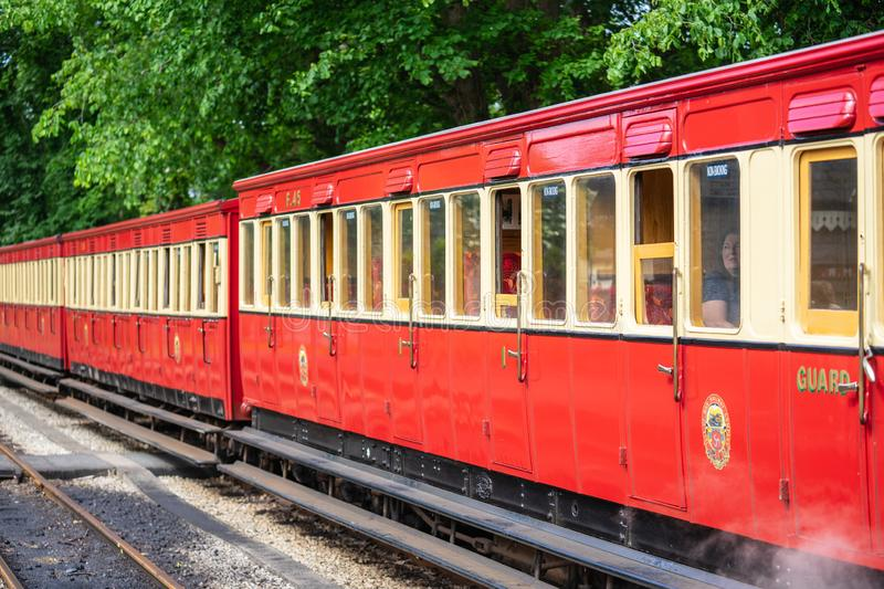 Castletown,Isle of Man, June 16, 2019. The Isle of Man Railway is a narrow gauge steam-operated railway connecting Douglas with. Castletown and Port Erin stock image