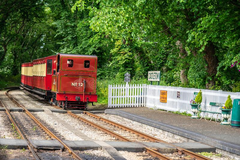 Castletown,Isle of Man, June 16, 2019. The Isle of Man Railway is a narrow gauge steam-operated railway connecting Douglas with. Castletown and Port Erin stock photography